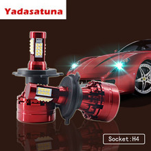 Pair X9 New H4 Car Led Headlight High Power Auto H4-3 Hi/lo HB2 9003 H13 9007 Low 6000K Bulb Repalcement Original Headlamp - Yadasatuna CarLED Store store