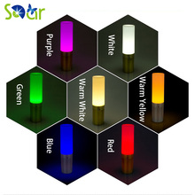 Led Round Novelty Rechargeable bar table lamp KTV night club light Bedroom Hotel Decoration LED night light With Adapter