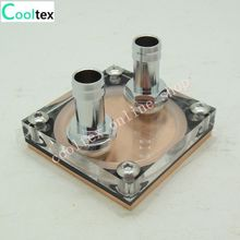 Water Cooling Block  50x50x12mm Liquid Cooler  Waterblock radiator Copper+Acrykic  100% new
