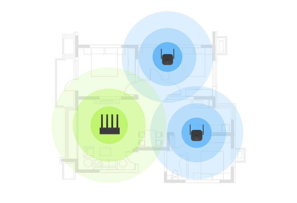 Original Xiaomi Pro 300M WiFi Router Amplifier Repeater Signal Cover Extender Roteador 2 Wireless Router Repetidor Mi repeater (3)