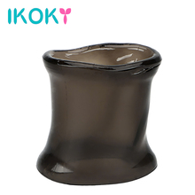 Buy IKOKY Penis Ring Extender Chastity Cage Cock Ring Sex Toys Men Male Delay Ejaculation Silicone Enlargement Penis Sleeve