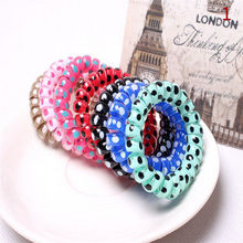 5Pcs Silicone elastic hair bands hair accessories for women spiral scrunchy telephone wire springs