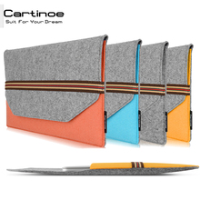 Ultra Thin Laptop Sleeve bag for MacBook Air 13 sleeve case Pro Retina 11 12 13 15 inch Shockproof Fashion Wool felt Foam Style
