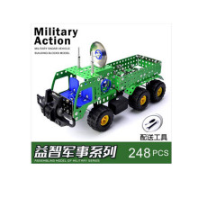 US Army Action Figures Metal Building Bricks Blocks Military Diy Construction Engineering Cross Radar Model Car Vehicle Toys