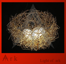 ark light Pendant Lights New Aluminum Wire Bird's Nest Chandelier Ceiling Light Pendant Lamp Lighting