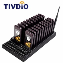 TIVDIO T-111 Restaurant Pager Waiter Calling System Wireless Paging Queue System 20 Call Buzzer Quiz Customer Service Equipment(China)
