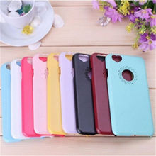 The Peach Heart-Shaped Camera Hole Phone Case For iphone 5 5s 6 6s Material is Hard PC phone covers