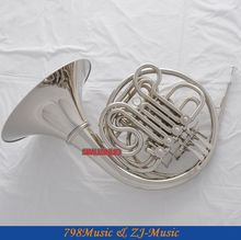 Professional New Silver Nickel Plated Double French Horn F/Bb Key With Case