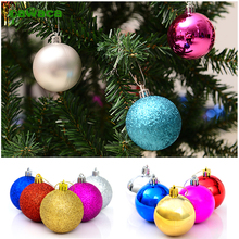 24pcs/pack 4cm Christmas Baubles Tree Balls Decorations Colorful Xmas Tree Shining Balls For Christmas Festival Party Decor(China)