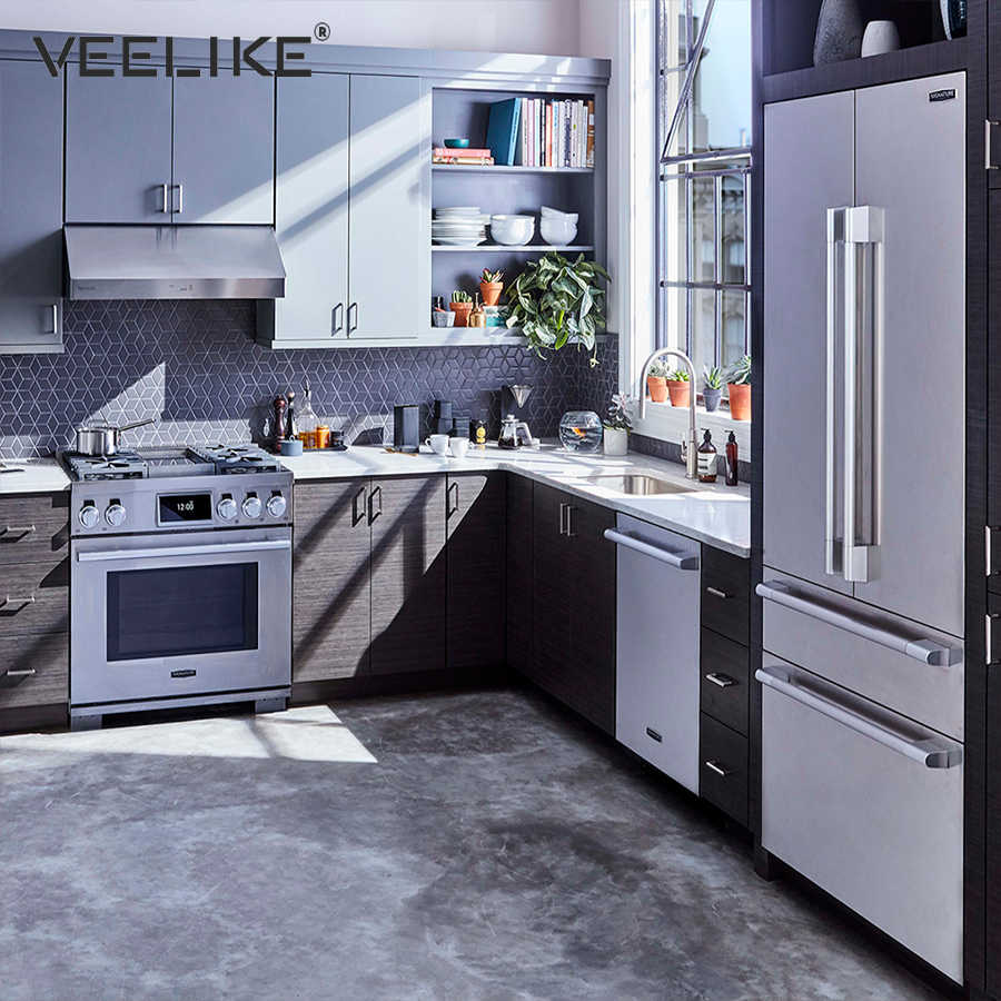 Kitchen Pvc Self Adhesive Wallpaper Silver Stainless Steel