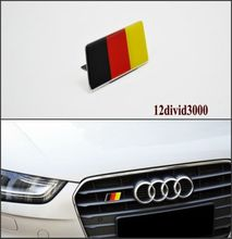German Flag Grille Emblem Badge FIT AUDI A1 A3 A4 A5 A6 A7 RS3 RS 4 RS 5 RS7