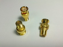 50PCS Gold plated F type Female to BNC Male RF Coax Adapter CCTV RG6 RG59