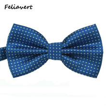 Fashion Bow Tie 2016 New Formal Party Apparel Accessory Mens Ties Spot Style Multicolor Butterfly Polyester Dot gents Bowtie(China)