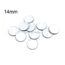 50pcs/lot 14mm Emblem badge for vw for seat for skoda for toyota car key logos folding flip remote key shell sticker(China)