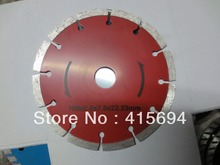 150x7x22.23-15.88mm red color cold press segment diamond saw blade for bricks, granite,marble and concrete.