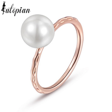 Iutopian Brand Simple Style OL  Simulated Pearl Rings Anel joias de perolaTop Quality Anti-Allergy #RA10581