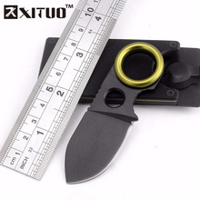 XITUO Multi pocket knife mini Wallet card Tactical survival knife EDC mini Black Self-defense Gift key knife Belt clip tool gife(China)