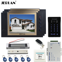 JERUAN Wired 8``video doorphone Recording intercom system kit CCTV system New RFID  Touch Key password keypad Camera 8G SD Card