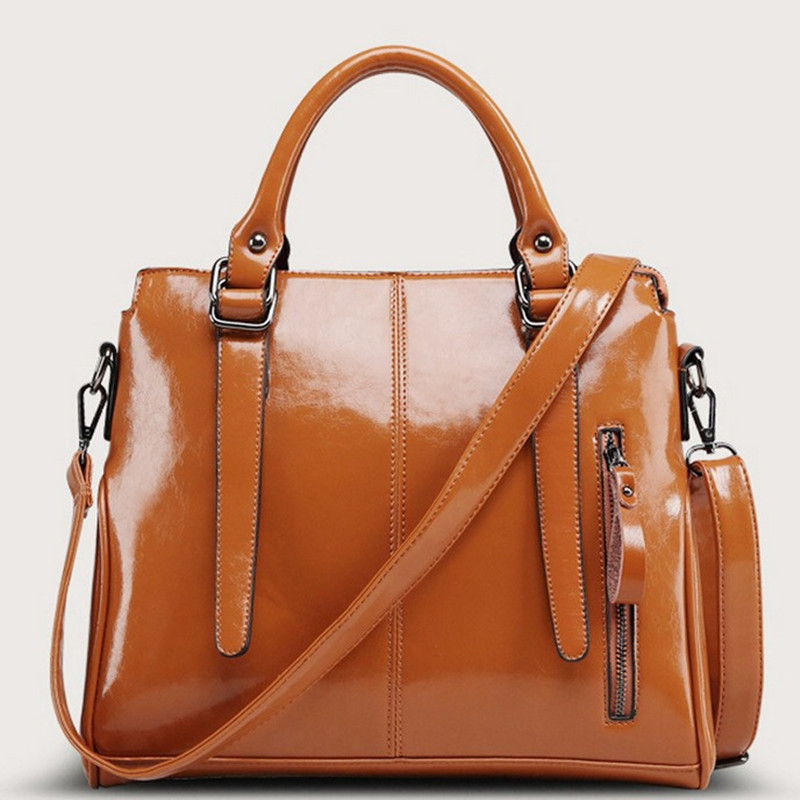 New Real genuine leather bags women handbag fashion brand designer oil wax  leather ladies tote shoulder bag bolsas femininas<br><br>Aliexpress
