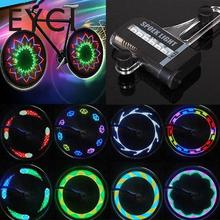 EYCI 14 RGB Colorful LEDs Bike Bicycle Accessories Bycicle Tire Light Mtb Mountain Bike LED Wheel Spoke Light 30 Patterns