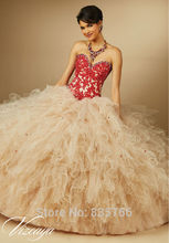 Champagne Appliqued Sweetheart Lace Ball Gown quinceanera dresses Puffy Tulle Prom Gown vestidos de 15 anos