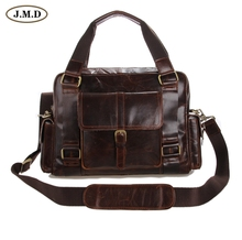 Factory Directly 100% Genuine Leather J.M.D Vintage New Men's Coffee Handbags Messenger Bags Free Shipping # 7206C