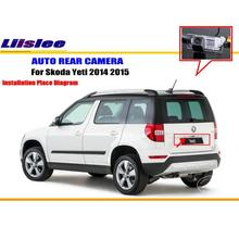 Liislee Reverse Camera / Car Rear View Back Up Camera For Skoda Yeti 2014 2015 / HD CCD RCA NTST PAL / License Plate Light OEM