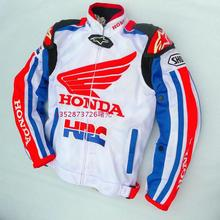 2016 new white for Honda summer breathable mesh racing suit with removable 5 protection protective gear motorcycle jacket