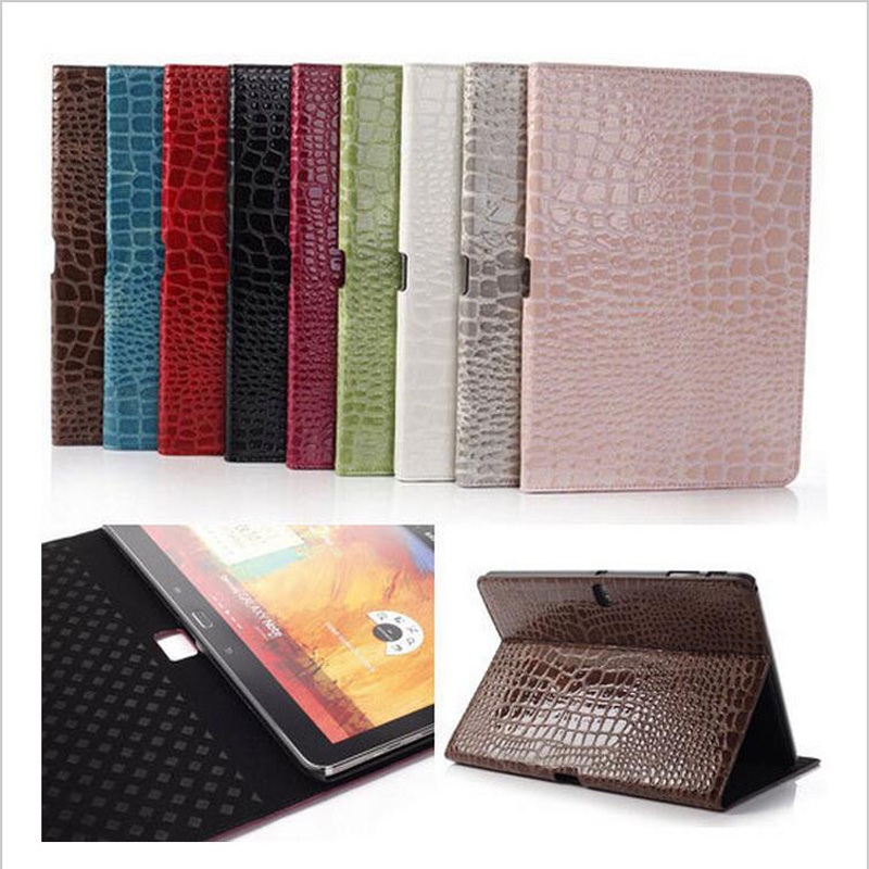 For Samsung Tab Pro T520 Cases Sparkle Crocodile Leather Flip Stand Tablet Cover for Samsung Galaxy Tab Pro T520 T525 (10.1inch)<br><br>Aliexpress
