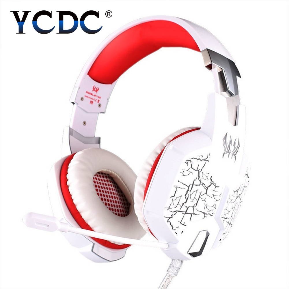 YCDC USB Gaming Headset 3.5mm stereo Surround Deep Bass LED Light Over Ear Headphones With Microphone For Computer PC Gamer