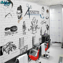 beibehang Customized Wallpaper Mural Europe and the United States hand-painted tidbits barber shop backdrop