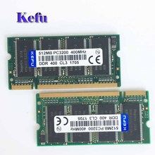 2Pcs 2x512MB PC3200 DDR400 400MHZ DDR1 200pin Sodimm 400Mhz Laptop Memory RAM Computer Free shipping CL3(China)