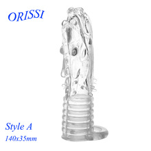 Buy ORISSI Reusable Penis Sleeve Dragon Cock Ring Sleeves Penis Extender Condoms Sex Toys Sex Products Men Delay Spray