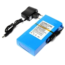 1pc Portable 12V 12000mAh Super Power Lithium Battery Pack Professional Li-ion Rechargeable Battery Pack with EU Plug Mayitr(China)