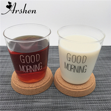 Arshen 300ml Transparency Handmade Heat Resistant Cow Milk Mug Breakfast Coffee Tea Water Juice Mug Office Home Milk Cups Gift(China)