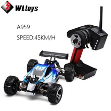 WLtoys A959 Electric 1:18 Rc Cars 4WD Shaft Drive Trucks High Speed 45KM/H Radio Control Monster Truck Super Power Ready to Run(China)