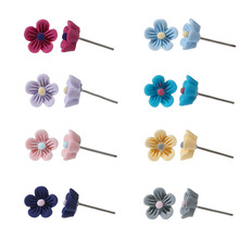 8 pairs/set Women Girls Very Cute Little Flower Earrings Multi Colors Floral Stud Earrings New Style Well Made Lovely Earrings(China)