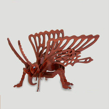 Annatto animal models with 3 d puzzles, butterfly crafts gift box packaging Jigsaw Puzzle Shape