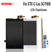Alesser For ZTE G Lux 3G/V830 LCD Display Screen Perfect Replacement Accessories For ZTE G Lux 3G/V830 Mobile Phone With Tools(China)
