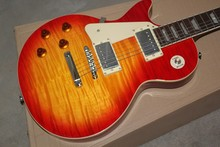 Mahogany Body LP Standard cherry burst left handed electric guitar,global most popular guitar --14-11-11(China)