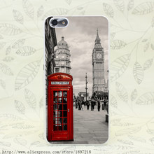 3112T London Red Telephone Big Ben Hard Transparent Cover for Huawei P6 P7 P8 P8 P9 Lite Plus Honor 4C 4X 6 7 G7