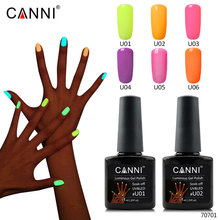 #70701 CANNI Newest nail art design varnish gel lacquer neon color glow dark luminous fluorescent uv polish - canni-v1 Store store