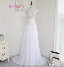 Buy Vestido De Noiva 2017 Beach Wedding Dresses A-line Cap Sleeves Backless Sash Chiffon Lace Vintage Wedding Gown Bridal Dresses for $62.37 in AliExpress store