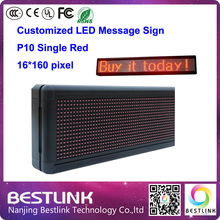 led running text led sign p10 outdoor 16*160 pixel led display screen for text graphics led door sign billboard painel led