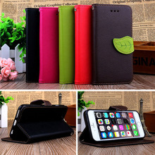 For iPhone6 6s plus Flip Wallet Flip PU Leather Case For APPLE iPhone 6 s Plus Stand Design cell Phone Bag Cover Cases Shell