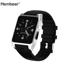 Hembeer X86 Bluetooth Smart Watch Android 4.4.2 Camera 30W Support 3G WIFI Single Nano SIM Card Heart Rate Smartwatch relogio(China)