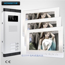 "HOMSECUR 10.1"" Hands-free Video Door Entry Call Intercom+One Button Unlock For House/Flat(China)"