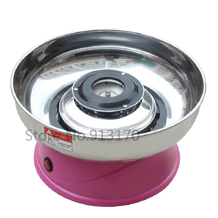 Commercial Candy Floss Machine mini Small Electric Cotton Candy Machine Pink Color  220V<br>