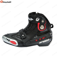 Classic Riding Tribe Leather ATV Motorcycle Road Short Boots Scooter Motocross Racing SPEED Boots Motorbike Shoes