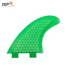 Insurfin Surfboard Fins Green Large (FCS G5 M5 Style) Thruster Fin Set (3) FCS Compatible Select Color Honeycomb Fiberglass Fin(China)